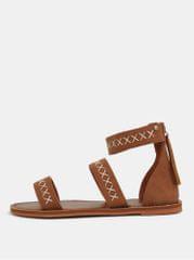 Roxy hnědé sandály s prošívaným vzorem Natalie