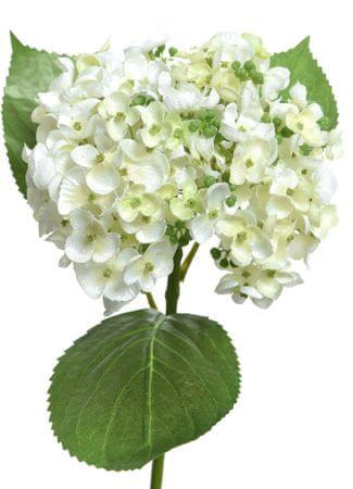Kaemingk Hortenzie, polyester - biela