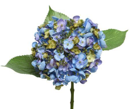 Kaemingk Hortenzie, polyester - modrá