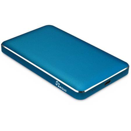 Inter-tech ohišje za disk ARGUS GD-25609, Type-C, modro