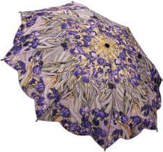 Blooming Brollies Dámsky skladací plne automatický dáždnik Van Goghs Irises GAFIR