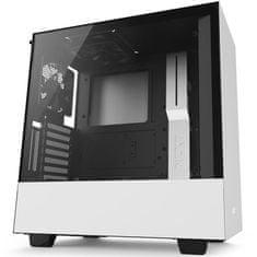 NZXT ohišje MIDI T ATX W/O PSU H500i, belo-črno