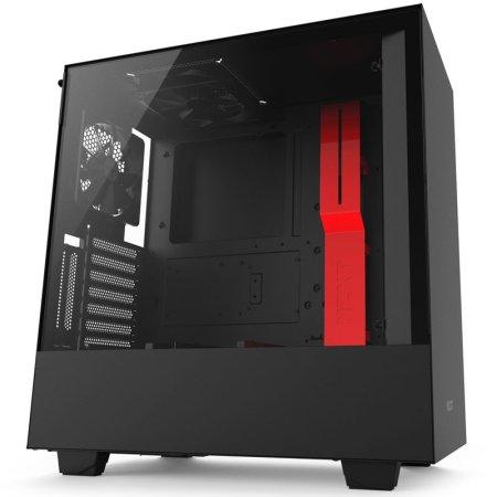 NZXT ohišje MIDI T ATX W/O PSU H500i RED, črno-rdeče
