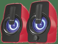 Trust zestaw głośników Gemi RGB 2.0, czerwony