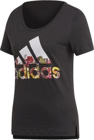 Adidas ženska majica kratkih rukava Bos Flower Tee /Black, XS, crna