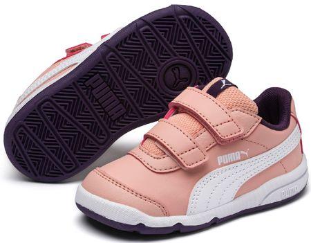 Puma otroške superge Stepfleex 2 SL V PS Peach Bud-White-Indigo, roza bele, 28-29