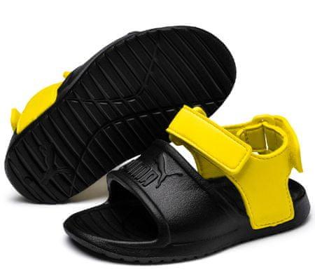 Puma dječje sandale Divecat v2 Injex Black-Blazing Yellow, crno-žute, 24