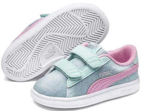 Puma Smash v2 Glitz Glam V PS Fair Aqua-Pale Pink-Silver-White 27-28