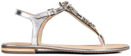 Geox damskie sandały Sozy Plus 37 srebrne