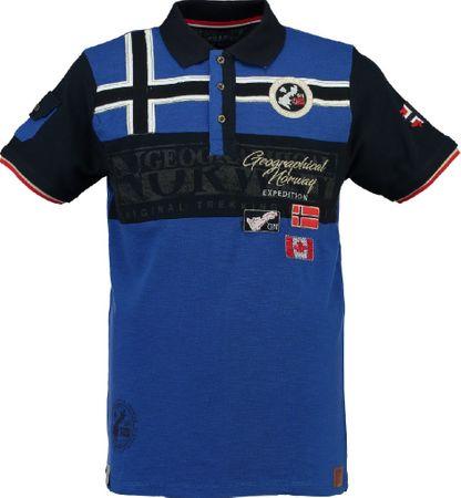 Geographical Norway moška polo majica s kratkimi rokavi Klipo, L, modra
