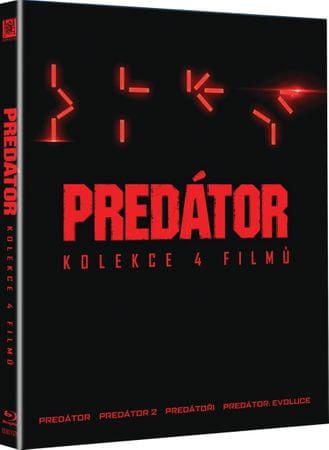 Komplet PREDÁTOR (4 disky): Predátor + Predátor 2 + Predátoři + Predátor: Evoluce - Blu-ray