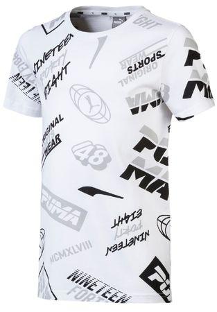 Puma chłopięca koszulka Graphic AOP 104 czarna