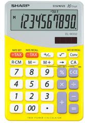 Sharp kalkulator EL332BYL, namizni, 10-mestni