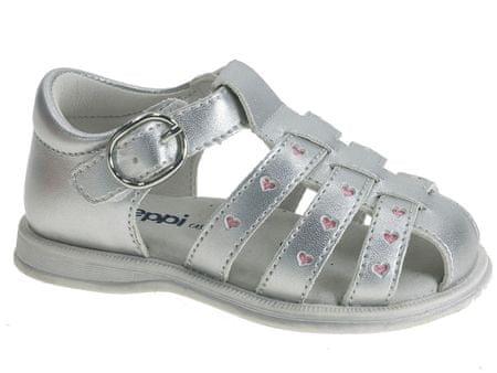 Beppi dekliški sandali, 20, srebrni