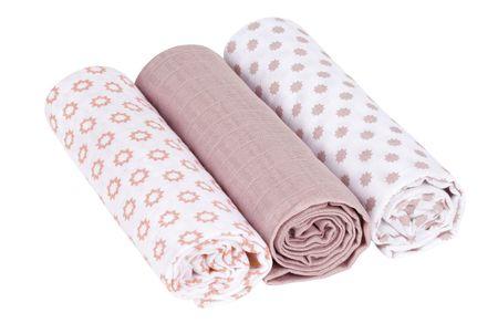 Lässig Swaddle blanket 85x85 Little Chums Star light pink