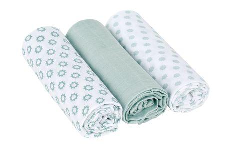 Lässig Swaddle blanket 85x85 Little Chums Star light mint