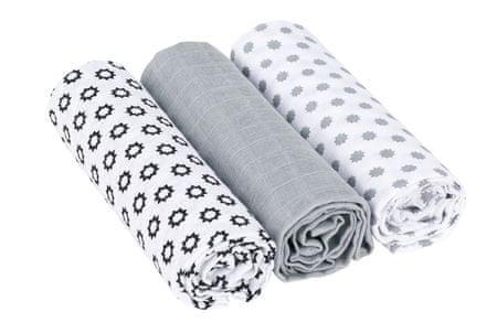 Lässig Swaddle blanket 85x85 Little Chums Stars white