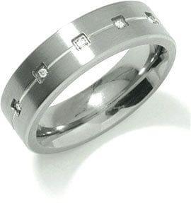 Boccia Titanium Titanov poročni prstan 0101-20 (Obseg 60 mm)