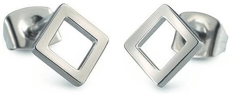 Boccia Titanium Uhani iz kvadratnega titana 05022-01