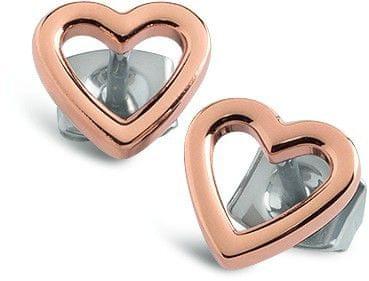 Boccia Titanium Uhani iz titana v obliki srca 05029-03