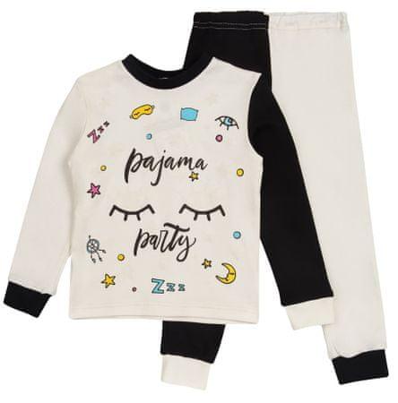 Garnamama lśniąca piżama 98 biały/czarny