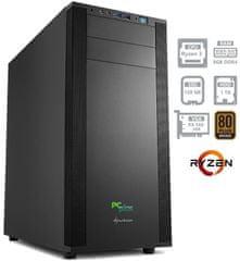 PCplus namizni računalnik Magic Ryzen 3 1200/8GB/SSD120GB+1TB/RX560/FreeDOS