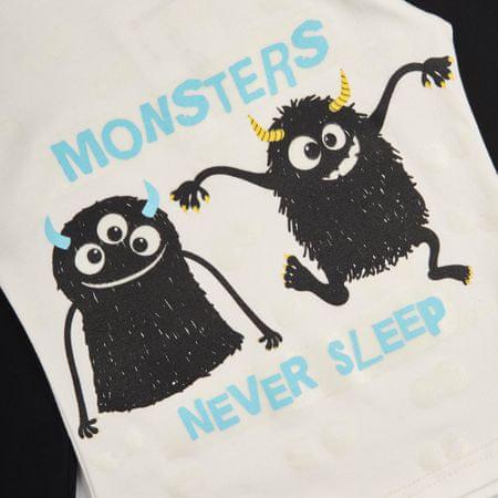 b478f4159 Garnamama chlapčenské svietiace pyžamo Monsters 110 čierna/biela ...