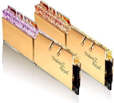G.Skill pomnilnik (RAM) Trident Z Royal DDR4 16GB (2x8GB), 3600MHz, RGB, zlat (F4-3600C18D-16GTRG)