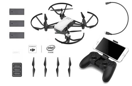 DJI RYZE Tello Boost Combo - micro selfie drón combo + GameSir T1d