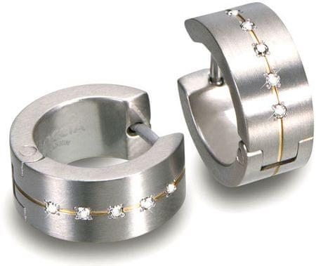 Boccia Titanium Uhani iz titana z diamanti 0503-11