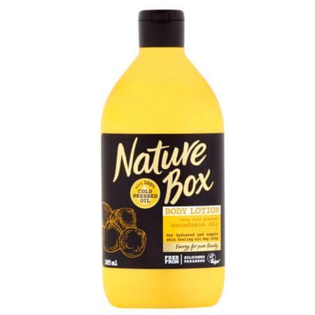 Nature Box Přírodní tělové mléko Macadamia Oil (Body Lotion) 385 ml