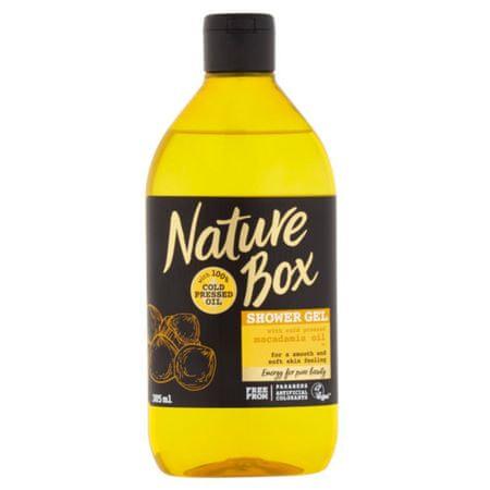 Nature Box Naturalny żel pod prysznic Macadamia Oil (Shower Gel) 385 ml