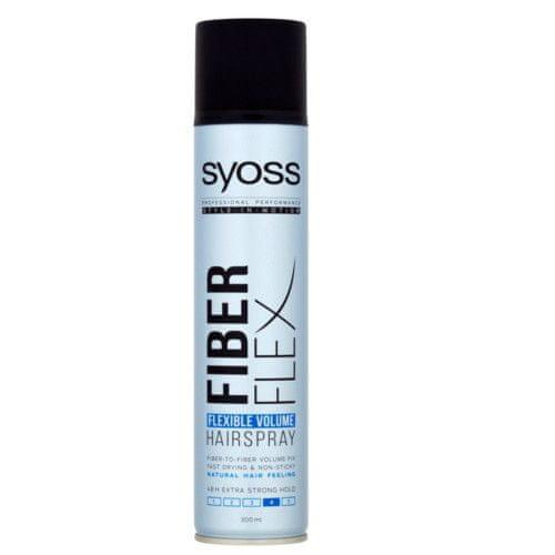 Syoss Lak na vlasy Fiber Flex 4 (Flexible Volume Hairspray) 300 ml