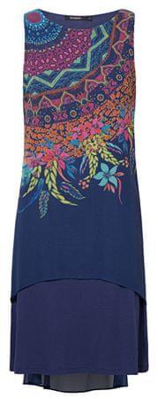 Desigual Damska sukienka Vest Adri Navy 19SWVWBO 5000 (rozmiar 36)
