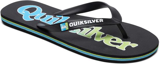 Quiksilver Molowordmrkfnln M Sndl Xkgb Black/Green/Blue 44