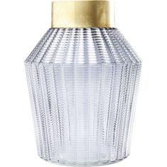 KARE Váza Barfly 30 cm - šedá