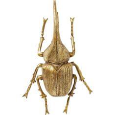 KARE Nástěnná dekorace Herkules Beetle - zlatá