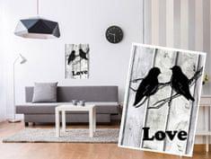 Dimex Dekoračné nálepky na stenu Holuby Love - 50 x 70 cm