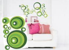 Dimex Dekoračné nálepky na stenu Kruhy zelené - 50 x 70 cm