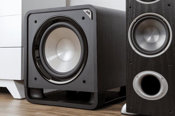 Subwoofer Polk Audio HTS 12 basový reproduktor 12palcová membrána z polypropylenu klippel metoda hluboké basy