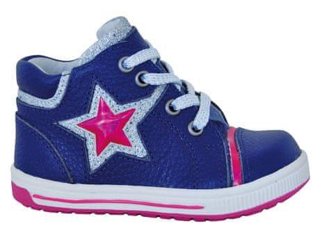 Protetika dívčí kotníkové boty Star 19 modrá