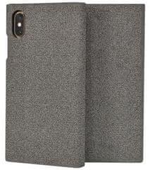 SO SEVEN etui ochronne z klapką na telefon Premium Gentleman Book Case Fabric Grey przeznaczone dla iPhone X/XS SSFLS0002