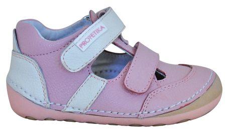 Protetika dívčí barefoot sandály Flip 20 ružová