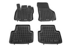 REZAW-PLAST Gumové koberce, černé, sada 4 ks (2x přední, 2x zadní), VW Passat B8 od r. 2014