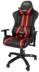 Sandberg krzesło do gier Commander czarny/czerwony