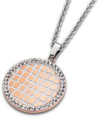 Lotus Style Oceľový náhrdelník s kryštálmi LS1778-1 / 2