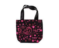 Albi Płócienna torba z różowymi kwiatami