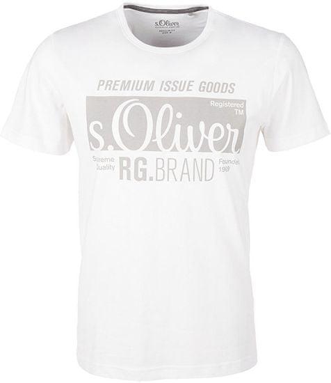 s.Oliver Pánske tričko 03.899.32.5206.0100 White (Veľkosť XXL)