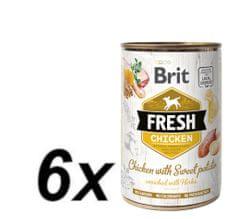 Brit Fresh Chicken with Sweet Potato 6x400g