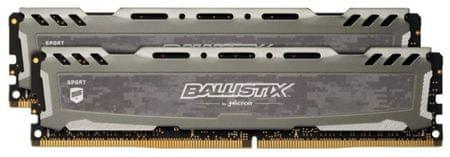 Crucial pomnilnik (RAM) Ballistix Sport LT DDR4 16GB (2x8GB), 2400MHz, DIMM, CL16 (BLS2K8G4D240FSBK)